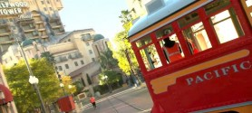 red car trolleys ride