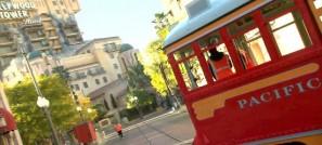 red car trolleys ride